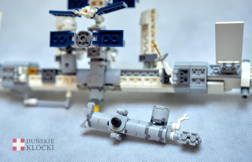 Zdjęcie modułów Międzynarodowej Stacji Kosmicznej z LEGO