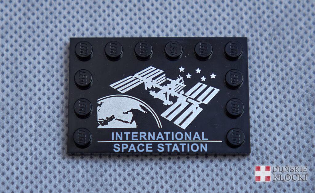 Zdjęcie ozdobnej płytki z nadrukiem International Space Station