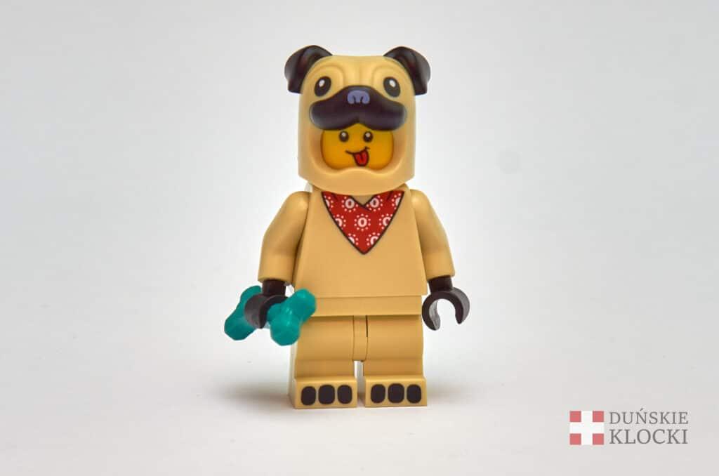 Facet w kostiumie mopsa z 21 serii minifigurek