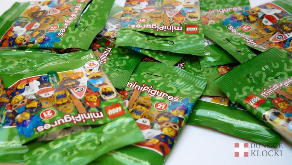 Saszetki zawierające minifigurki z 21 serii