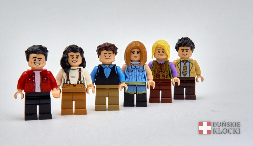 Figurki przyjaciół z zestawu 21319 Central Perk