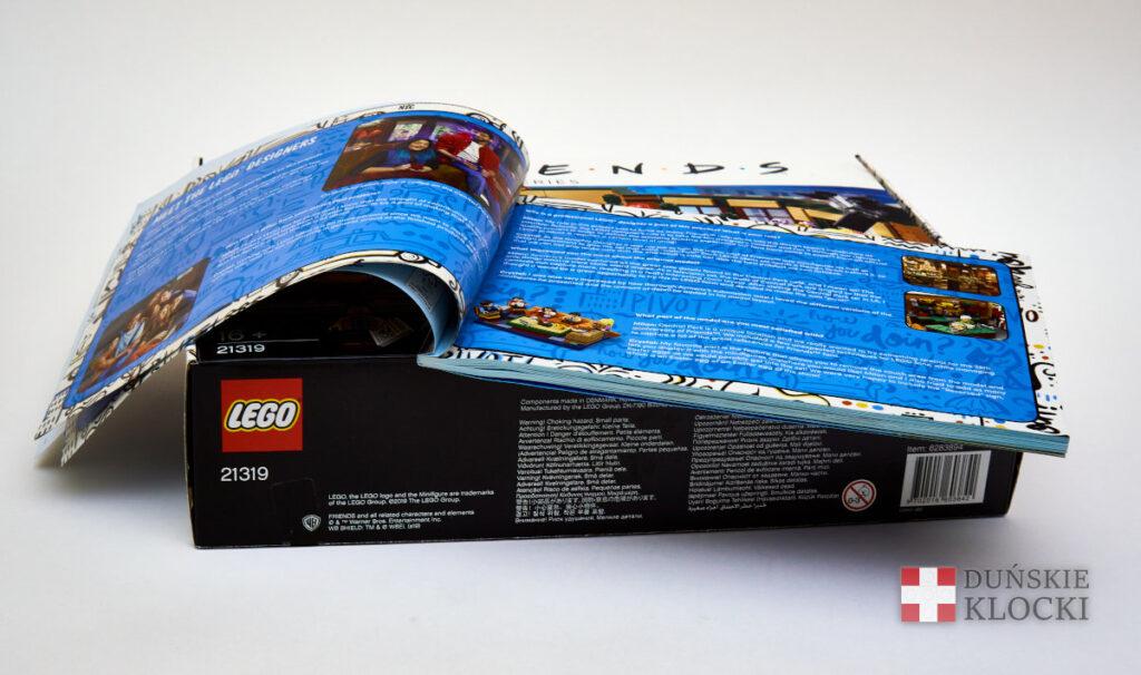 Pudełko oraz instrukcja zestawu 21319 Central Perk