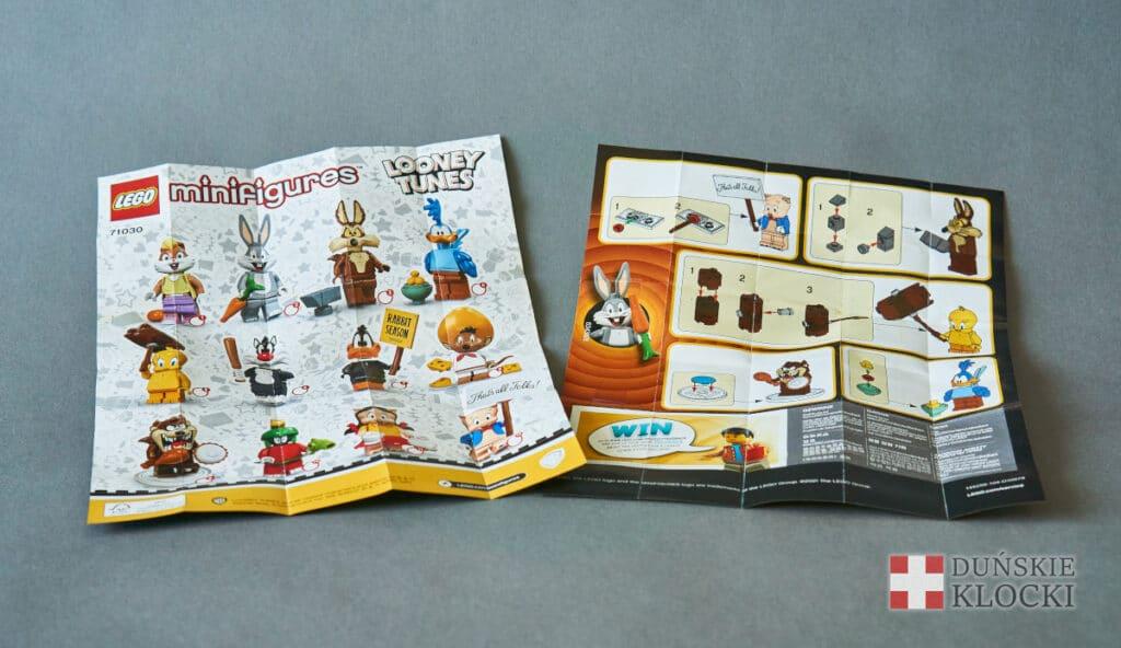 Broszurka minifigurek Looney Tunes